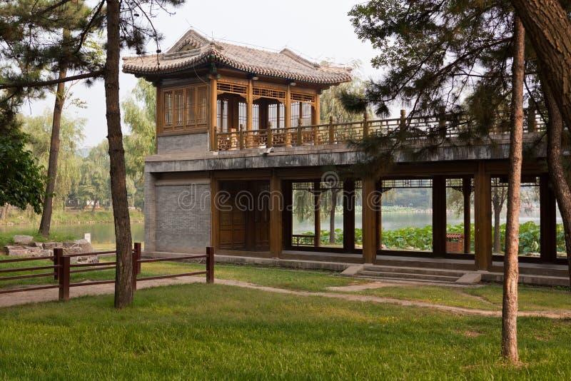 Torre de madeira chinesa foto de stock royalty free