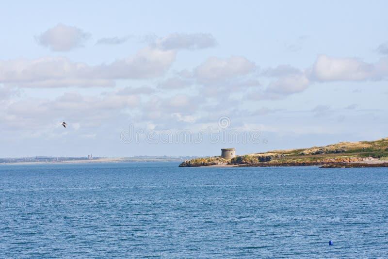 Torre de Martello, puerto de Howth en Irlanda foto de archivo libre de regalías