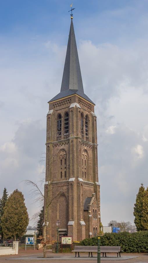 Torre de Martinus no centro de Gennep fotos de stock