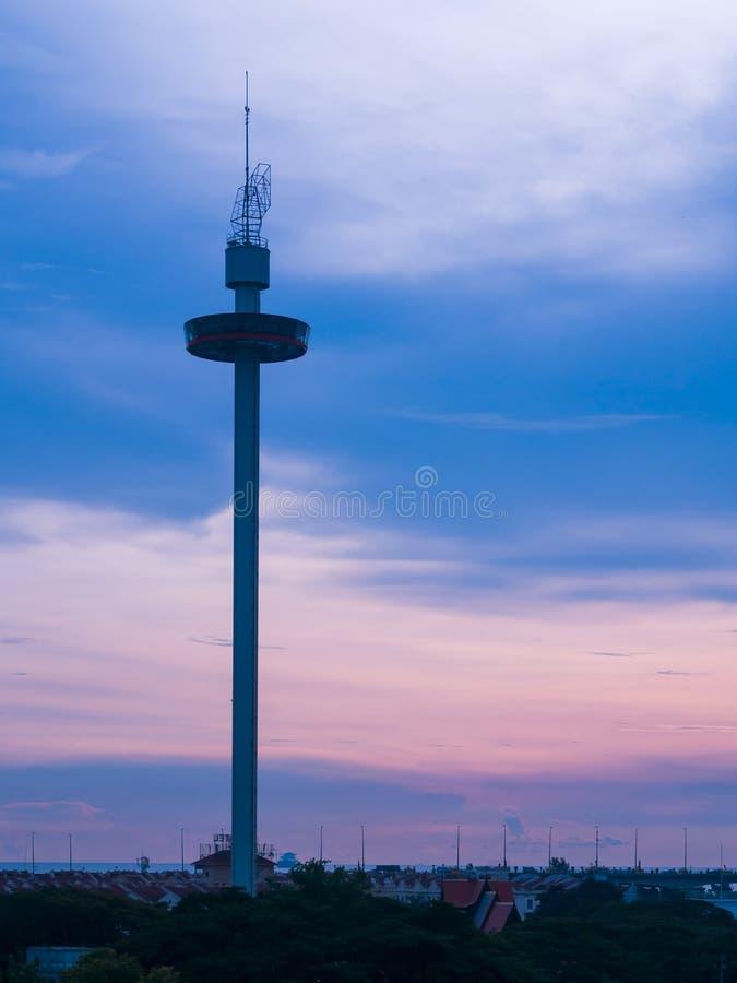 Torre de Melaka na cidade de Malacca, Malásia fotos de stock royalty free