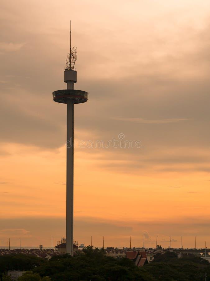 Torre de Melaka na cidade de Malacca, Malásia imagem de stock royalty free