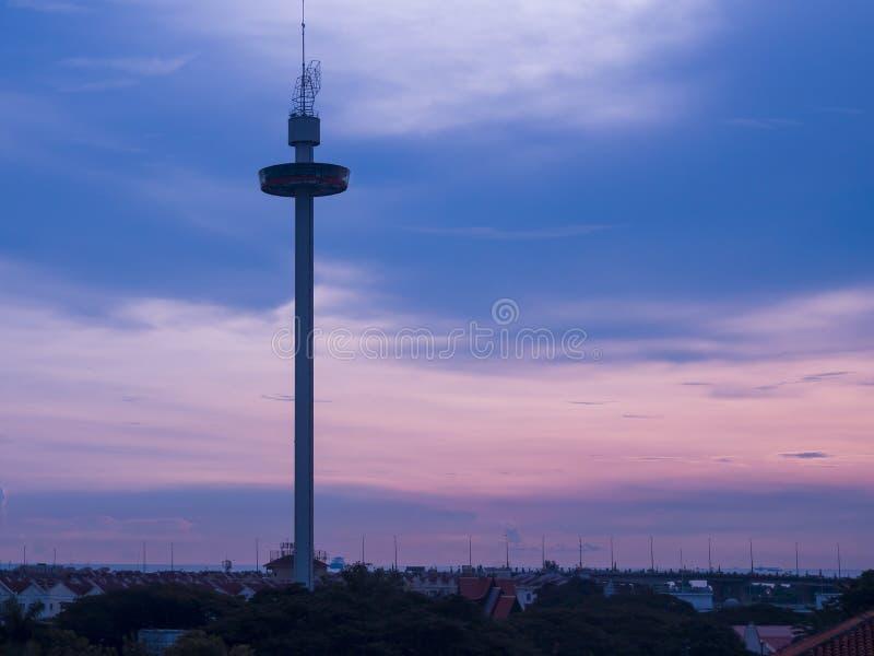 Torre de Melaka na cidade de Malacca, Malásia foto de stock royalty free