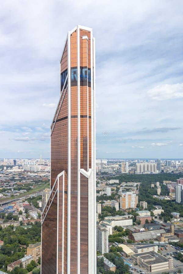 Torre de Mercury City no complexo do negócio da cidade de Moscou imagem de stock royalty free