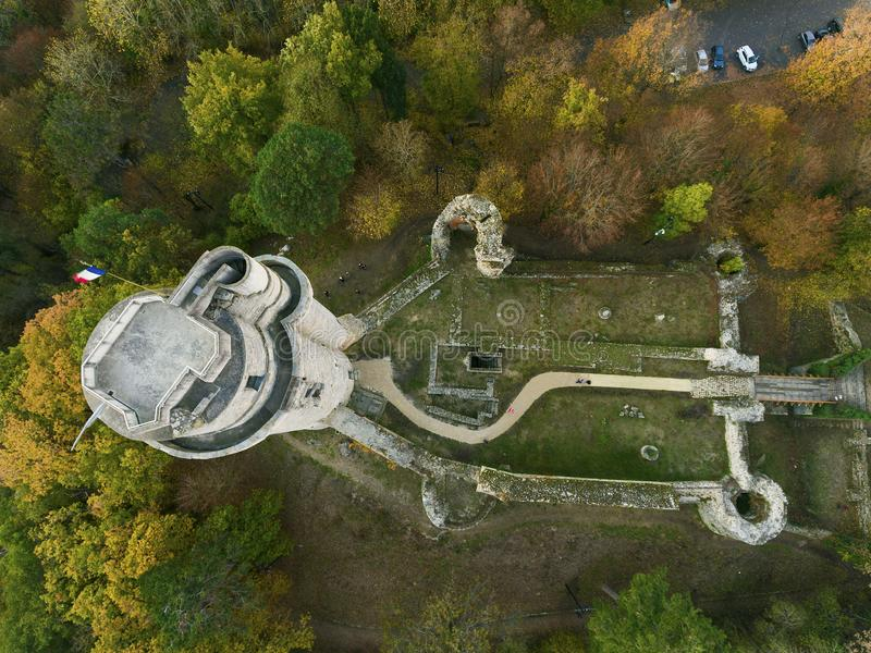 Torre de Montlhery, Essonne, Francia foto de archivo