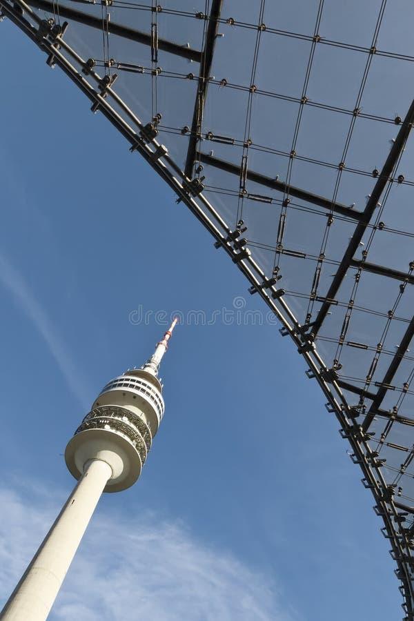 Torre de Munich TV imágenes de archivo libres de regalías