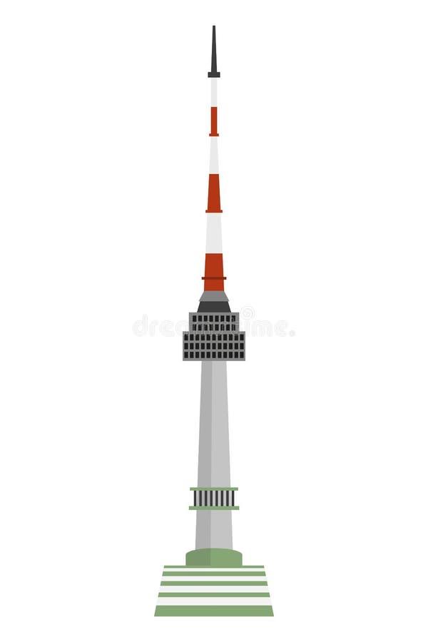 Torre de N Seul en Corea del Sur stock de ilustración