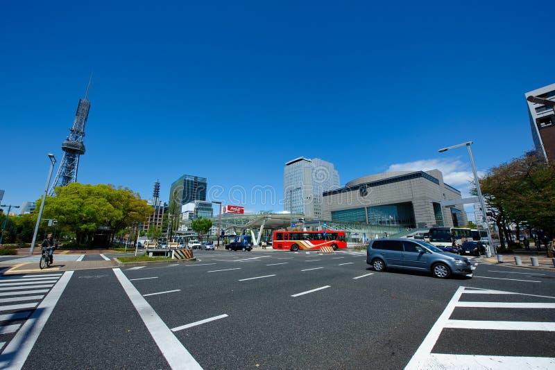 Torre de Nagoya e centro da arte de Aichi imagens de stock royalty free
