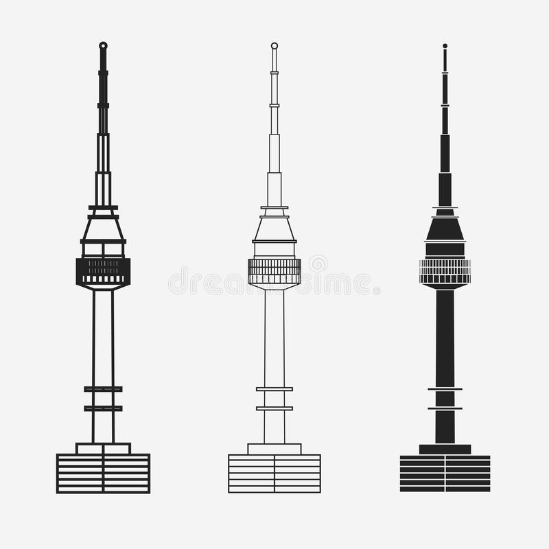 Torre de Namsan en Seul ilustración del vector