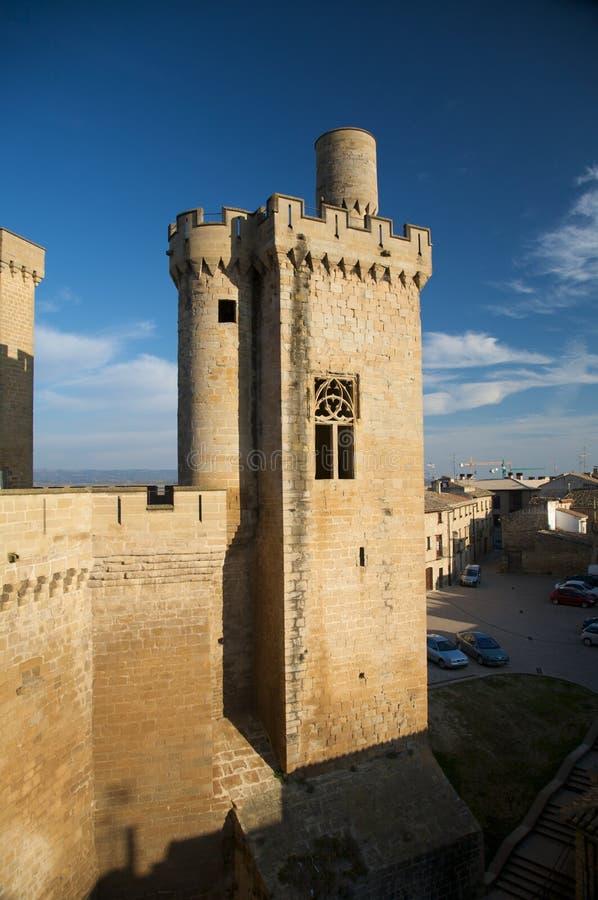 Torre de olite do castelo imagens de stock