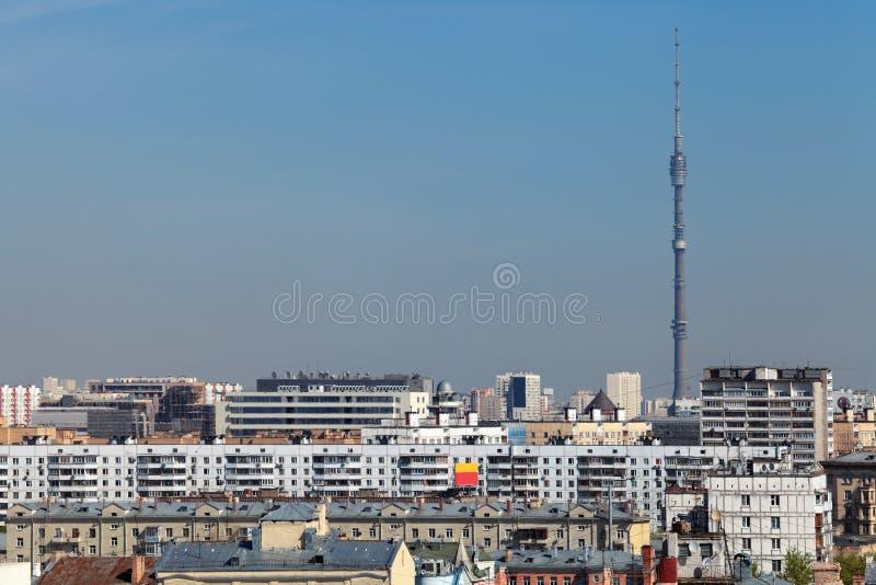 Torre de Ostankino fotos de archivo libres de regalías