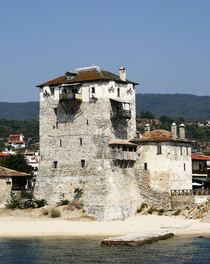 Torre de Ouranopolis imagenes de archivo