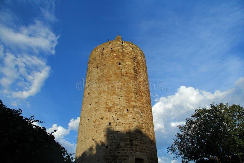 Torre de Pals, Girona, España fotos de archivo