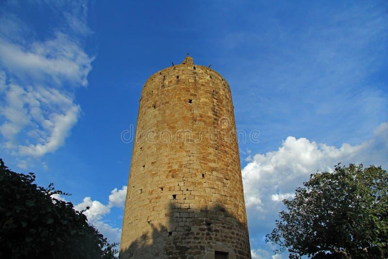 Torre de Pals, provincia de Girona, Cataluña, España fotos de archivo