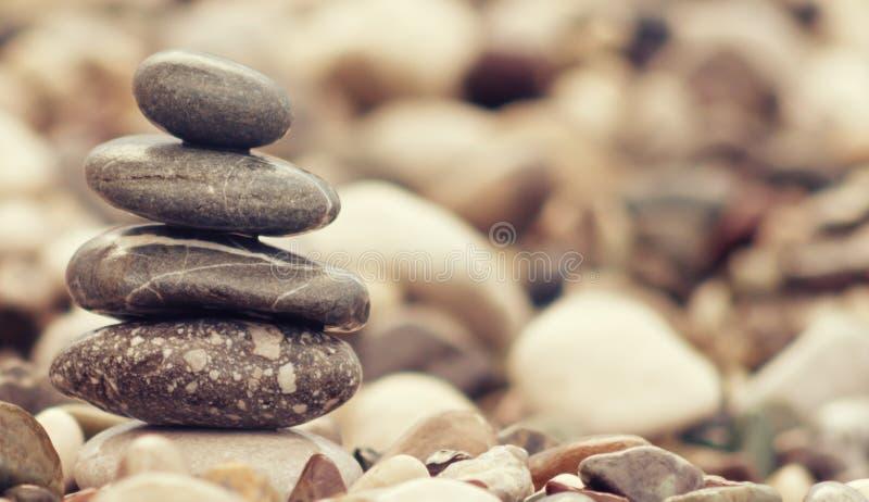 Torre de pedra de equilíbrio imagem de stock royalty free