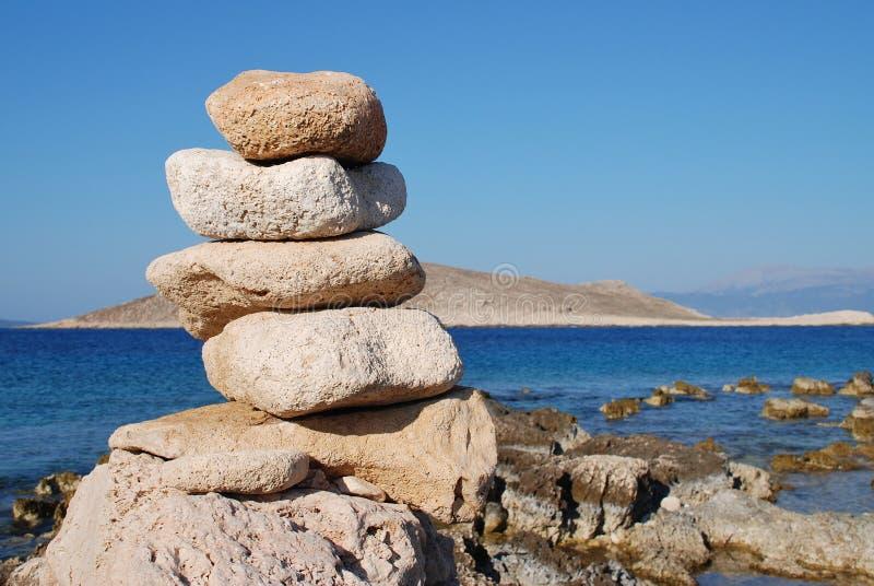 Torre de pedra, ilha de Halki fotos de stock royalty free
