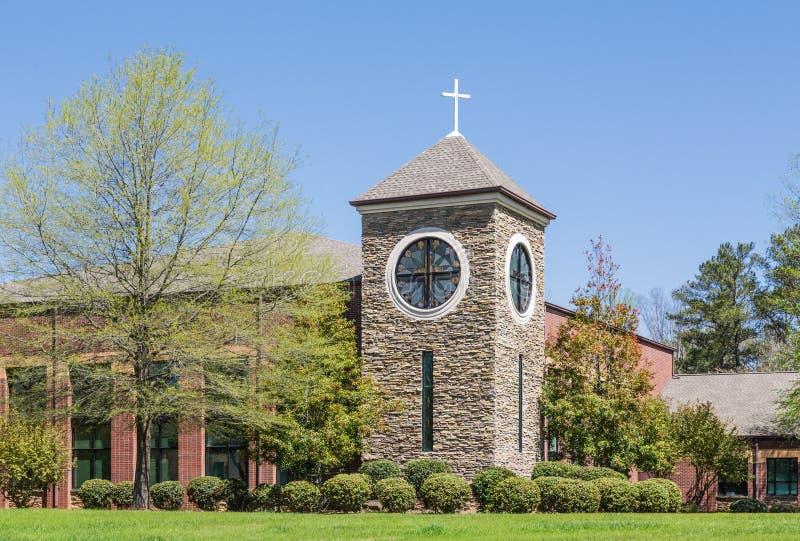 Torre de pedra na igreja de Cristo fotos de stock royalty free