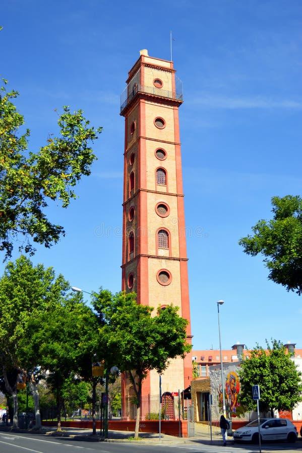 Torre de Perdigones en la calle de Resolana, Sevilla, Andalucía, España fotos de archivo