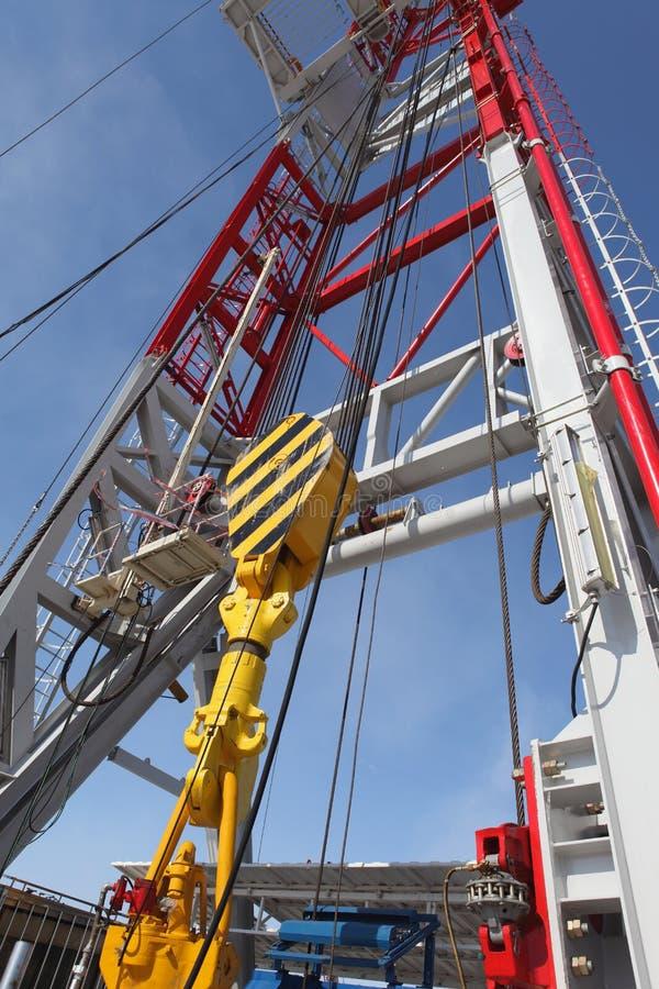 Torre de perforación de petróleo fotos de archivo