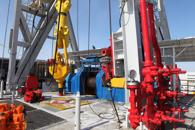 Torre de petróleo fotografia de stock royalty free