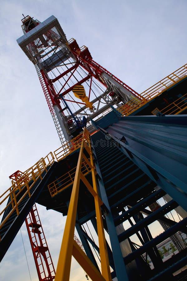 Torre de petróleo imagens de stock
