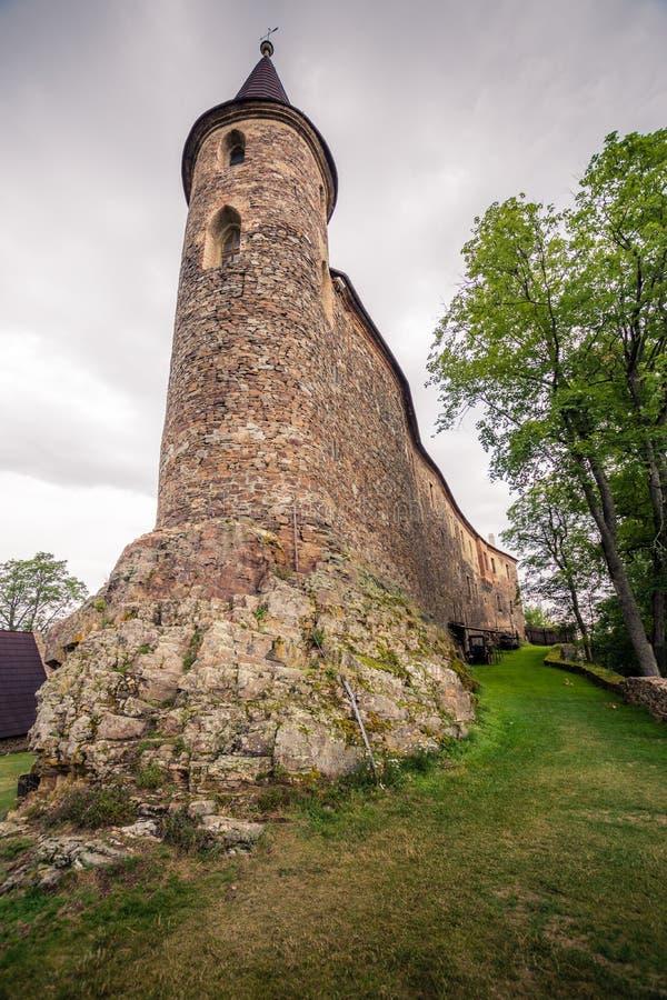 Torre de piedra del castillo imágenes de archivo libres de regalías