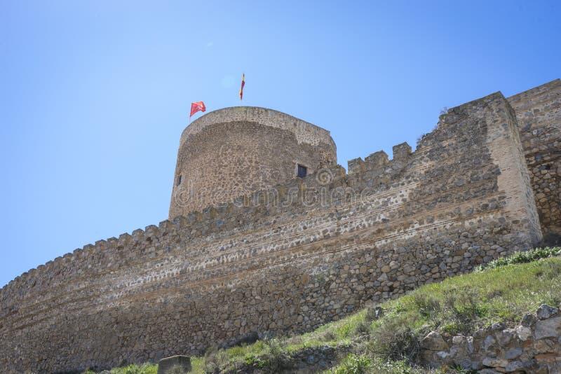 torre de piedra medieval en la ciudad de Toledo, España, forti antiguo imágenes de archivo libres de regalías