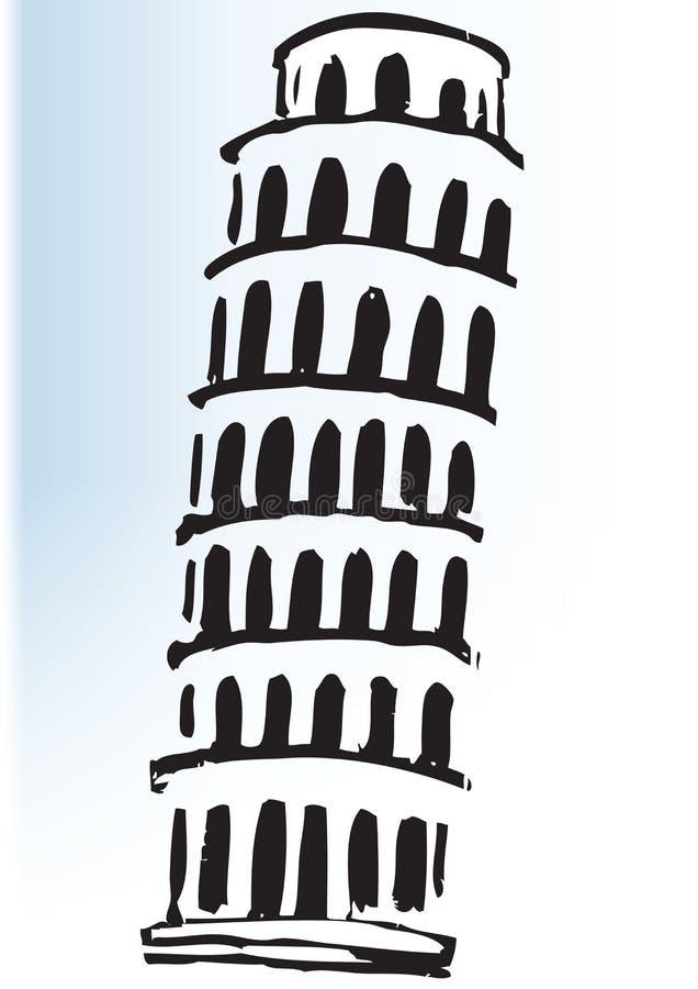 Torre de Pisa de la historieta libre illustration