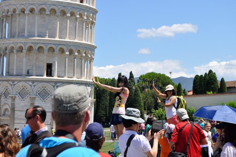 Torre de Pisa en Italia imágenes de archivo libres de regalías