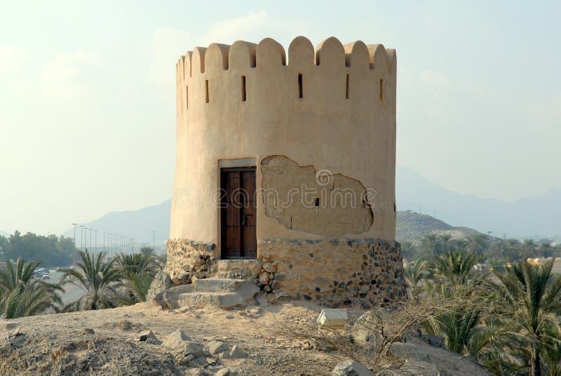 Torre de protector histórica de Fudjairah fotografía de archivo