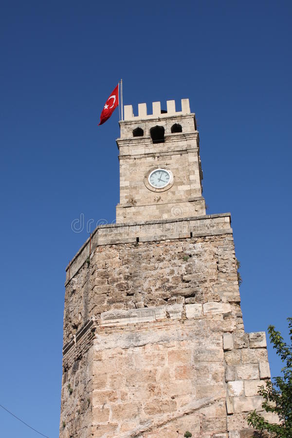 Torre de pulso de disparo, Antalya, Turquia   foto de stock royalty free