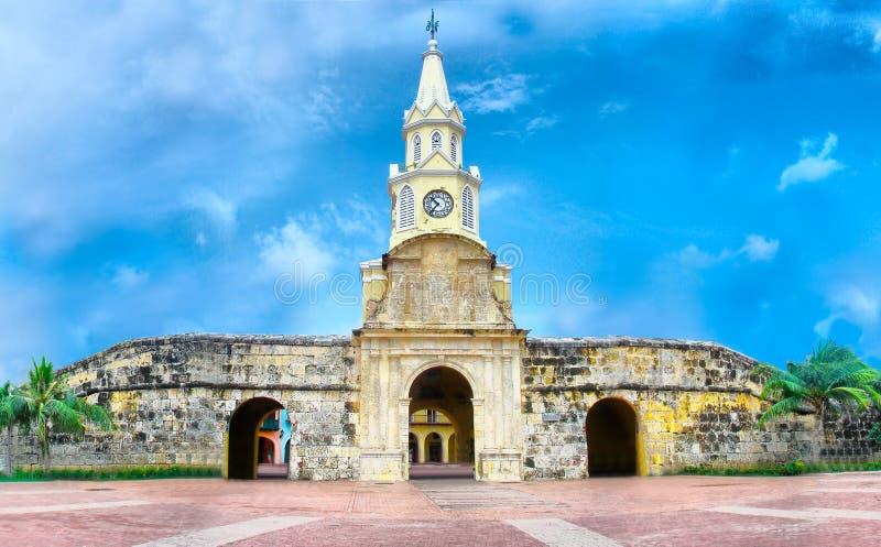 Torre de pulso de disparo - Cartagena, Colômbia imagens de stock