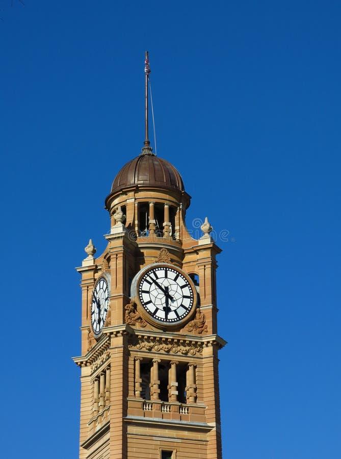 Torre de pulso de disparo da estação central em Sydney fotografia de stock