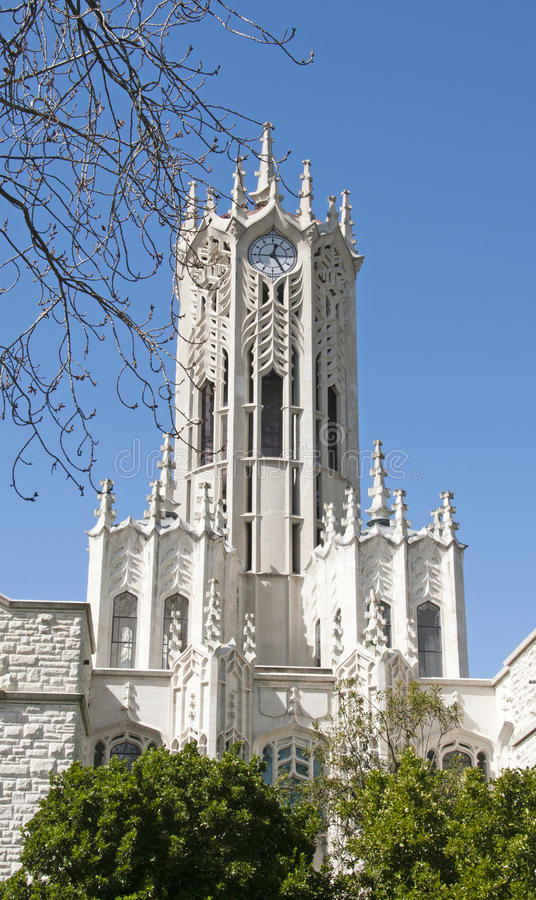 Torre de pulso de disparo da universidade de Auckland fotos de stock royalty free