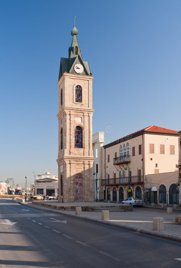 Torre de pulso de disparo de Jaffa foto de stock