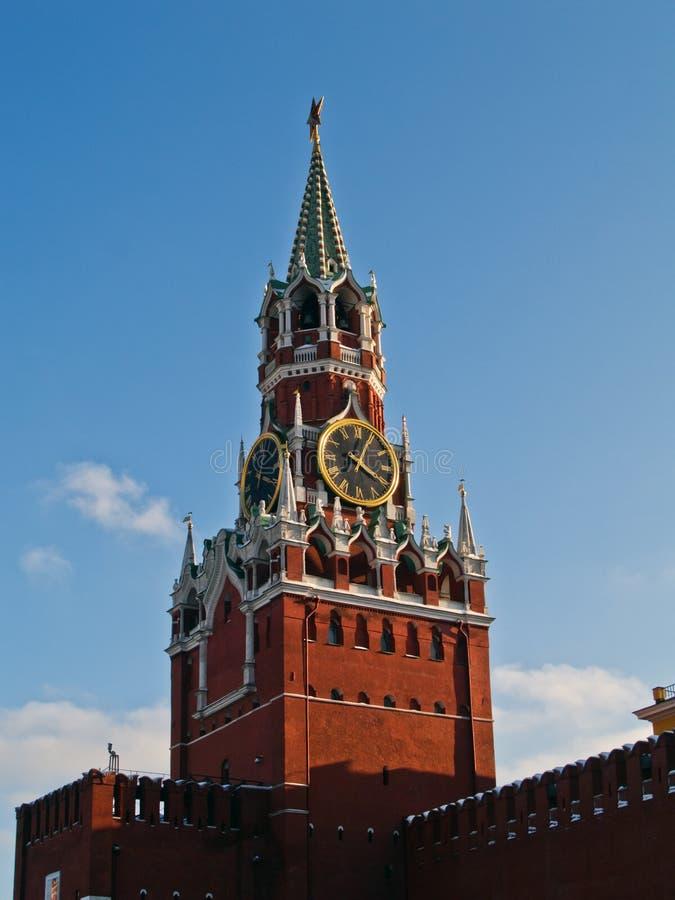 Torre de pulso de disparo de Kremlin imagens de stock royalty free