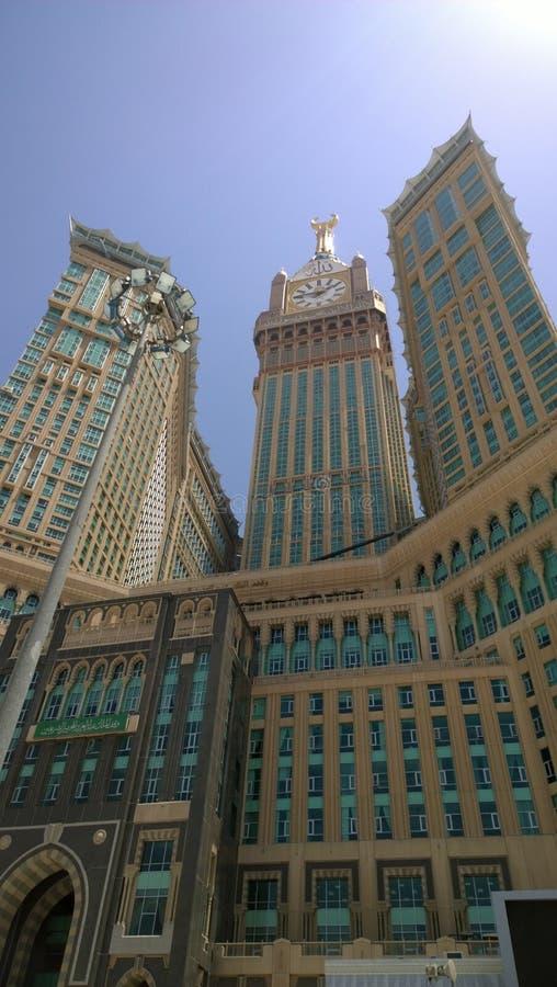 Torre de pulso de disparo de Makkah fotos de stock royalty free