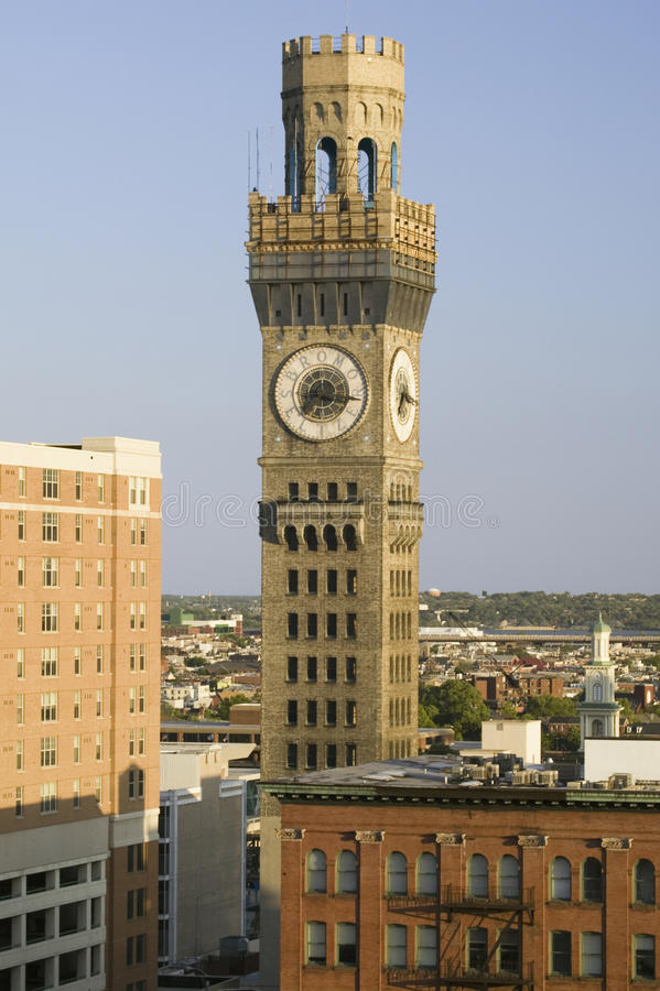 Torre de pulso de disparo do Bromo-Seltzer, fotografia de stock royalty free