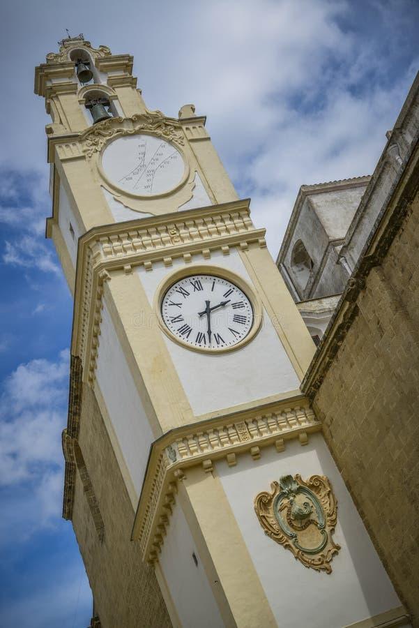 Torre de pulso de disparo do gallipoli Italia foto de stock royalty free