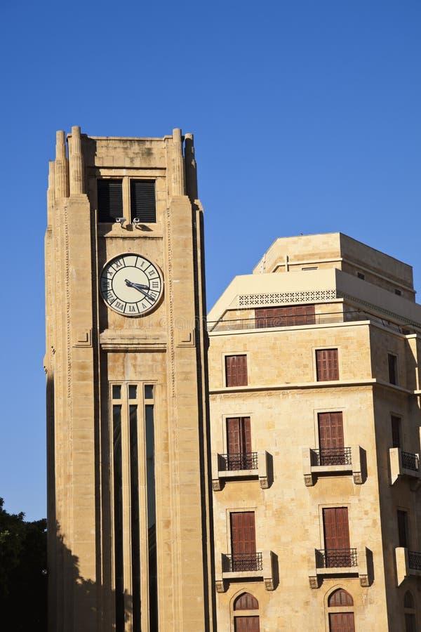 Torre de pulso de disparo em Beirute imagem de stock royalty free