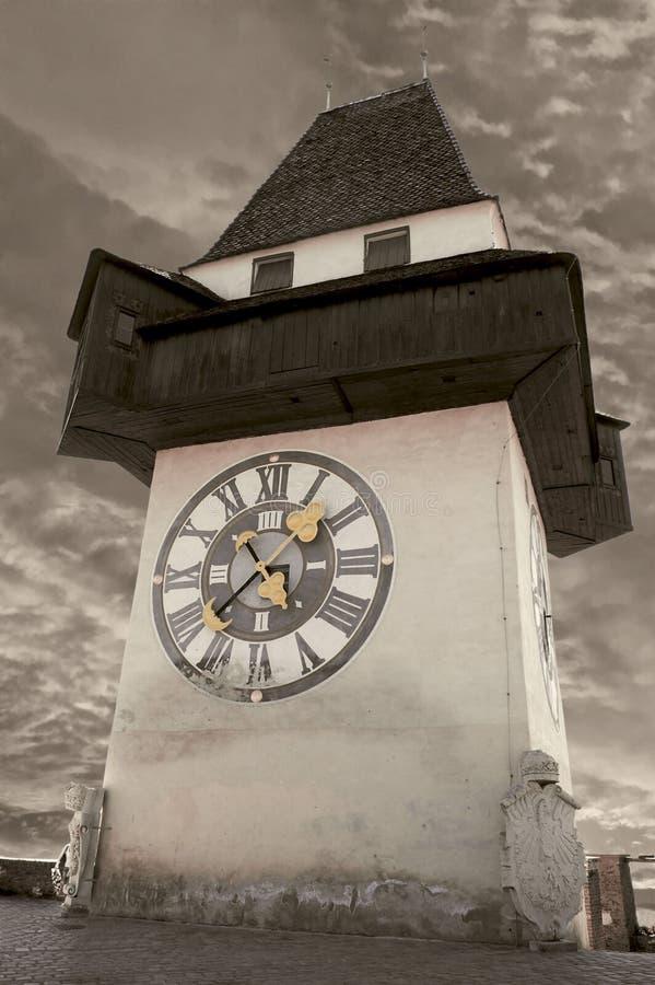 Torre de pulso de disparo em Graz imagem de stock royalty free