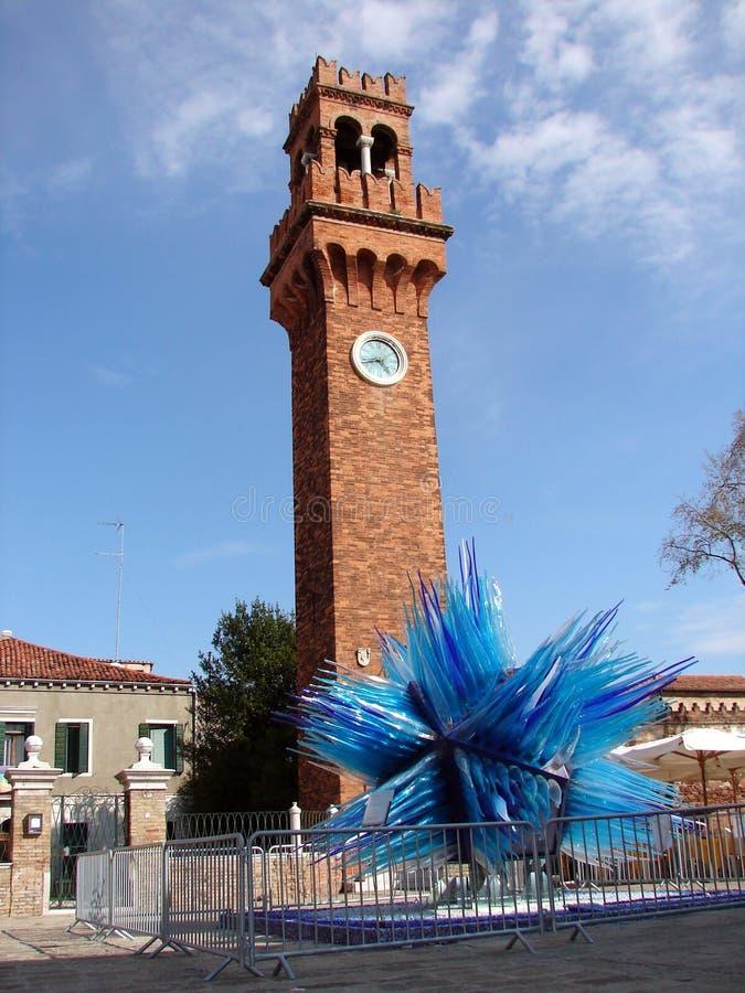 Torre de pulso de disparo em Murano - Campo Santo Stefano fotografia de stock royalty free