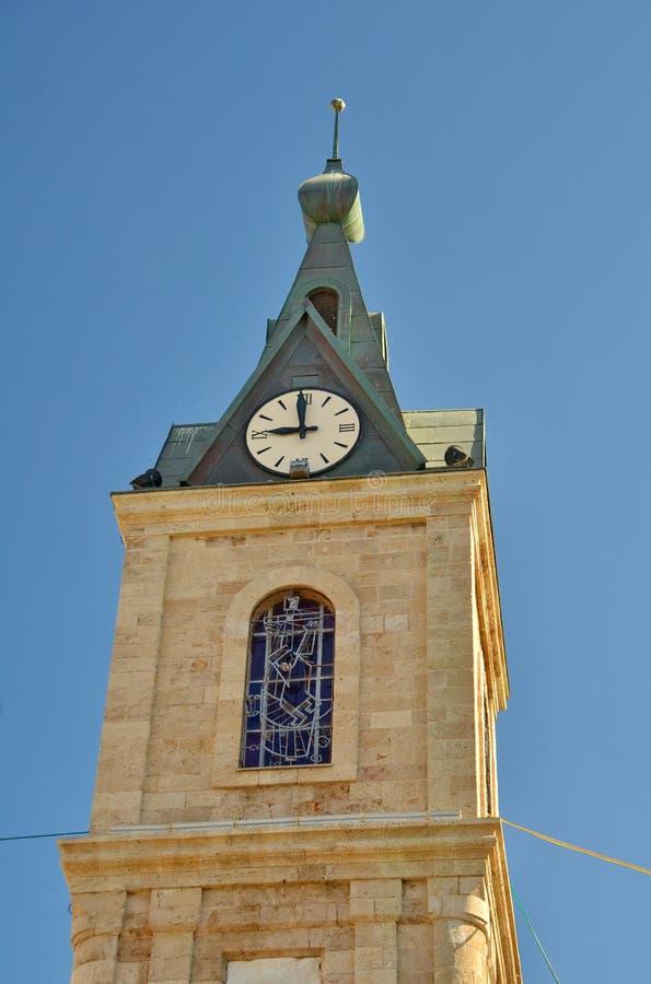 A torre de pulso de disparo famosa de Jaffa fotos de stock royalty free
