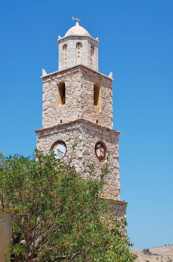 Torre de pulso de disparo, Halki imagens de stock