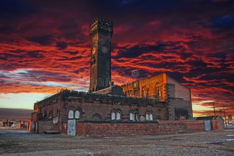 Torre de pulso de disparo de Birkenhead imagens de stock royalty free