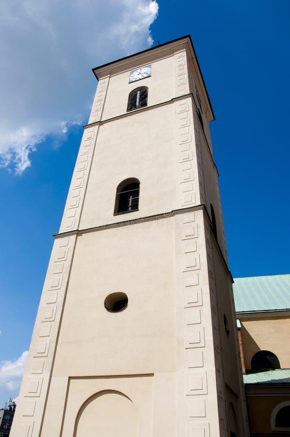 Torre de pulso de disparo da igreja de Farny foto de stock royalty free