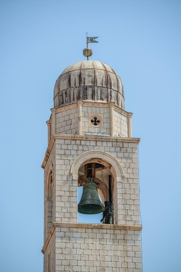 Torre de pulso de disparo em Dubrovnik, Cro?cia foto de stock