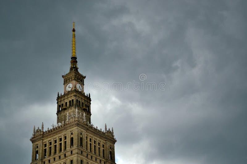 Torre de pulso de disparo em Varsóvia, Polônia imagem de stock