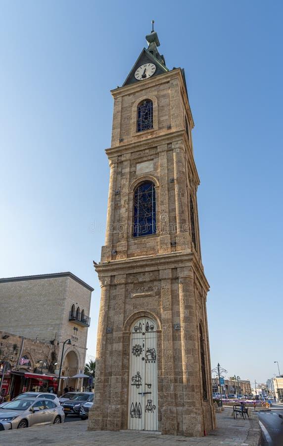 Torre de pulso de disparo de Jaffa no telefone aviv-Jaffa imagem de stock royalty free