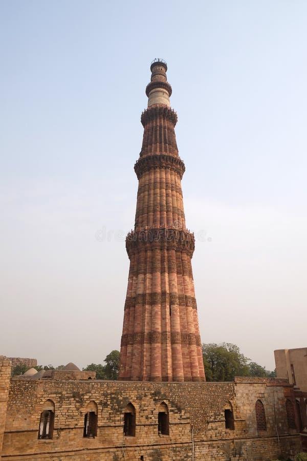 Torre de Qutub Minar, Delhi imagen de archivo
