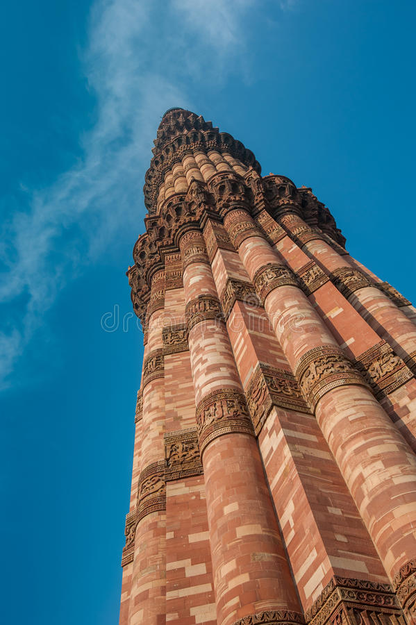 Torre de Qutub Minar, Delhi, la India foto de archivo libre de regalías